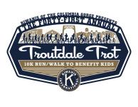 2019 Troutdale Trot registration logo