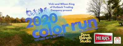 2020 Color Run 5k Fundraiser for The Oxford Arts Alliance registration logo