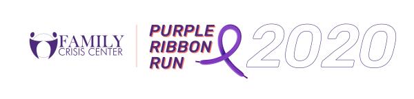 2020 Family Crisis Center Purple Ribbon Run registration logo