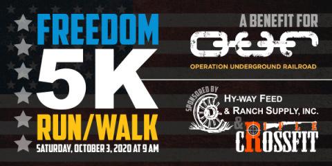 2020 Freedom Run 5K registration logo