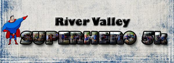 2020 River Valley Superhero 5K registration logo