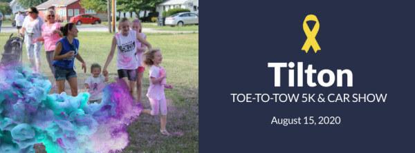 2020 Tilton Toe-to-Tow 5k Color Run registration logo