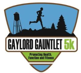 Gaylord Gauntlet 5K Trail and Obstacle Run registration logo