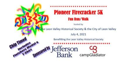 LVHS Pioneer Firecracker 5K Fun Run/Walk registration logo