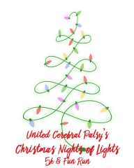 UCP Christmas Nights of Lights 5K & Fun Run. registration logo