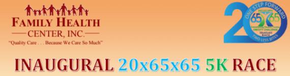 20x65x65 5K Race registration logo