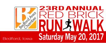 22nd Annual Bedford Red Brick Run registration logo