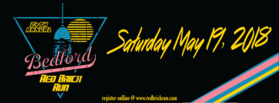 23rd Annual Bedford Red Brick Run registration logo