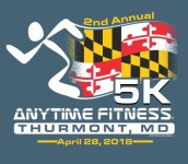 2nd Annual Anytime Fitness Thurmont 5k registration logo