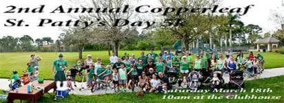 2nd Annual Copperleaf St Patty's Day 5k registration logo