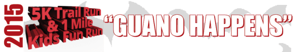 2nd Annual Guano Happens 5k Trail Run registration logo