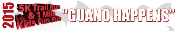 2nd Annual Guano Happens 5k Trail Run registration logo