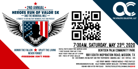 2nd Annual Heroes Run of Valor 5k and The Memorial Mile registration logo