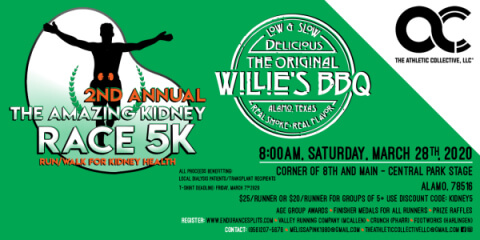 2nd Annual The Amazing Kidney Race 5K registration logo