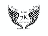 Wings Like Eagles 5K and Fun Run registration logo