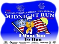 37th Annual Kiwanis Virginia Street Dermatology Midnight Run registration logo