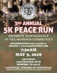 3rd Annual 5k Peace Run registration logo