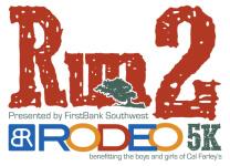 3rd Annual FBSW Run 2 Rodeo Amarillo, Texas registration logo