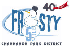 40th Annual Frosty 5 Mile registration logo