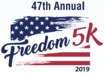 47th Annual Freedom 5K registration logo
