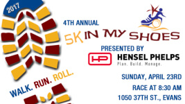 4th Annual 5K In My Shoes registration logo