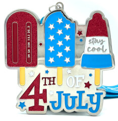 4th of July 1M 5K 10K 13.1 and 26.2 registration logo