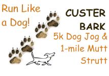 5K Dog Jog & 1 Mile Mutt Strut registration logo