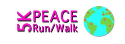 5K Peace Run  registration logo