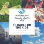 5K Race For the Kids registration logo