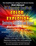 5K Recovery Run/Walk Color Explosion registration logo