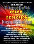 5K Recovery Run/Walk Color Explosion registration logo