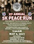 2nd Annual 5k Walk/Run for Peace  registration logo