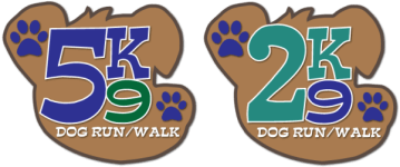 5K9 and 2K9 Dog Run registration logo