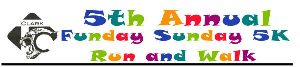 Clark Funday Sunday 5k registration logo