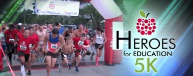 5th Annual Heroes for Education 5K Run/Walk registration logo
