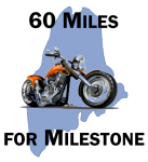 60 Miles for Milestone registration logo