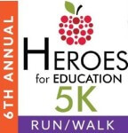6th Annual Heroes for Education 5K Run/Walk registration logo