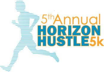 5th Annual Horizon Hustle 5K registration logo