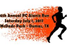6th Annual PC Alaniz Run registration logo
