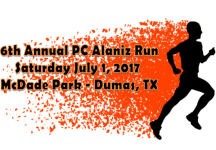 6th Annual PC Alaniz Run registration logo