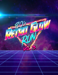 80's Retro Glow Run registration logo