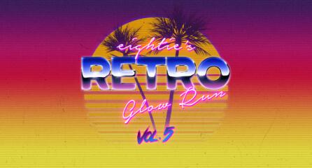 80's Retro Glow Run Vol. 5 registration logo