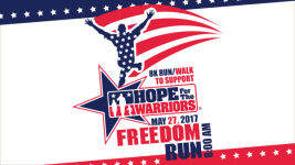 8K Freedom Run/Walk for Hope for the Warriors registration logo