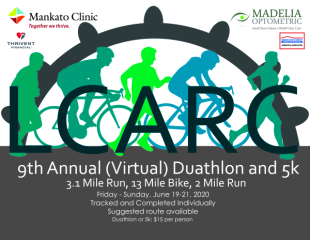 9th Annual Duathlon and 5k registration logo