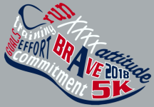 A Brave 5K registration logo