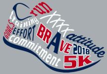 A Brave 5K registration logo