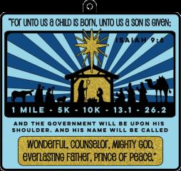 A Child is Born 1M 5K 10K 13.1 26.2 registration logo