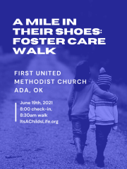 A Mile in Their Shoes-Foster Care Walk registration logo
