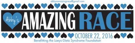 Abby's Amazing Race registration logo