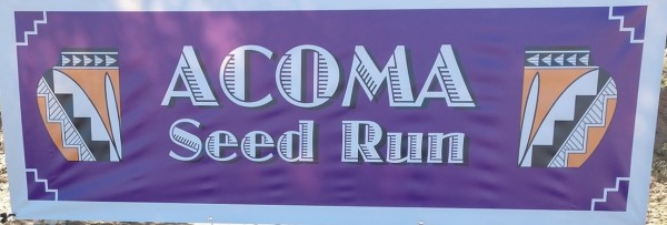 Acoma Seed Run registration logo